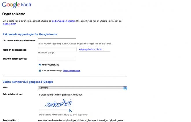hvilken tjeneste er en del af google